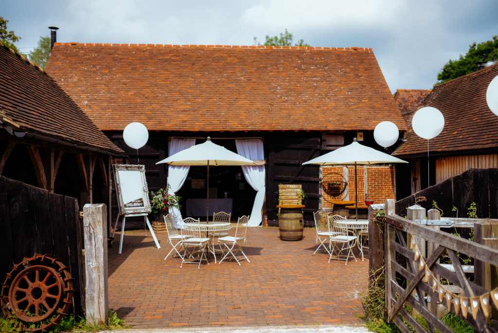 Gildings barn wedding venue dorking surrey