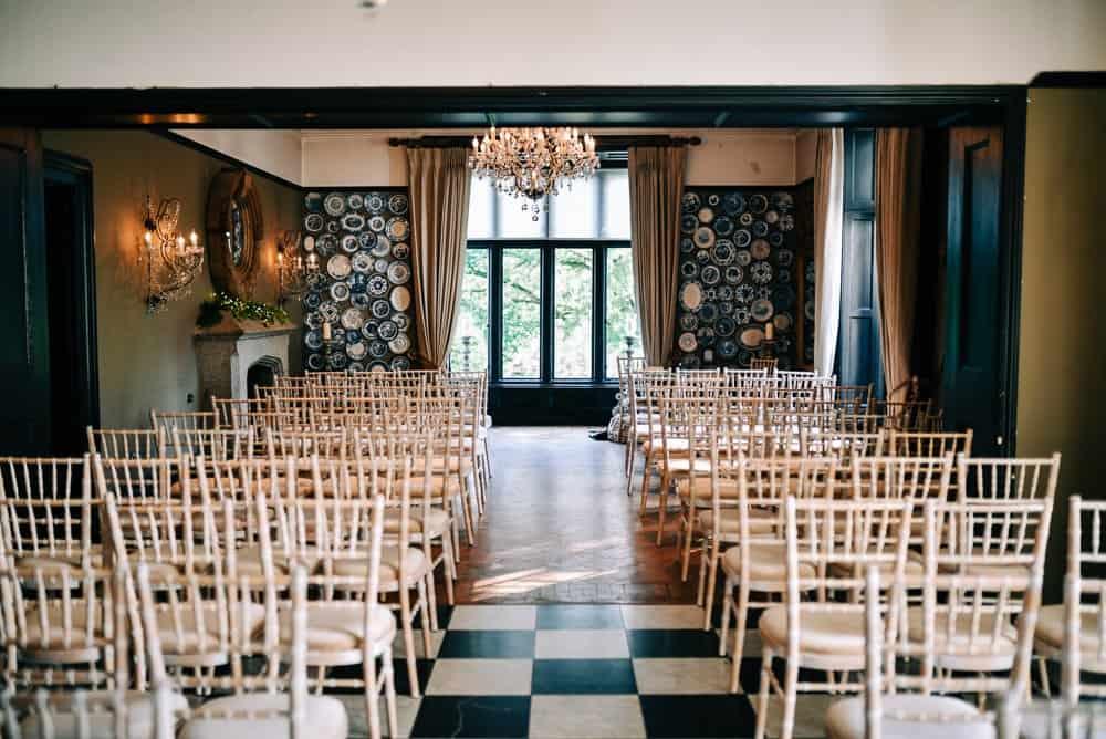 Glazebrook house wedding ceremony