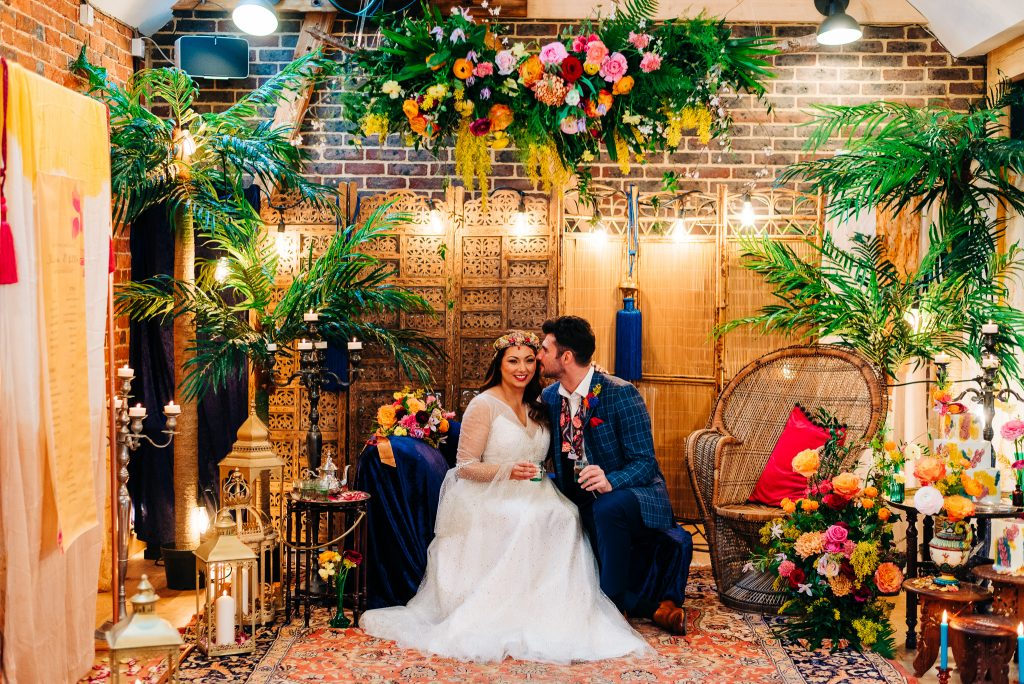 Vibrant Moroccan inspired wedding photoshoot Sussex