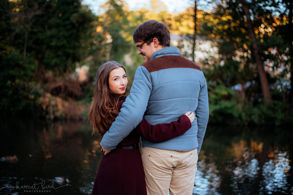 Engagement photoshoot Surrey Autumn golden hour