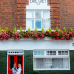 Colourful quirky Greenwich couple photoshoot