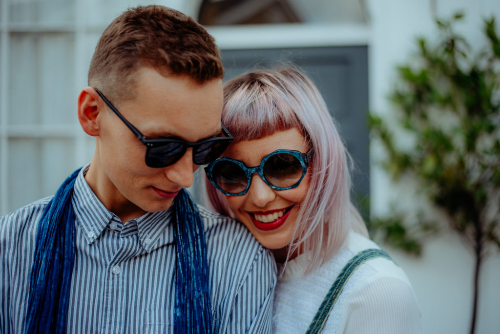 Cute and stylish couple photoshoot in London