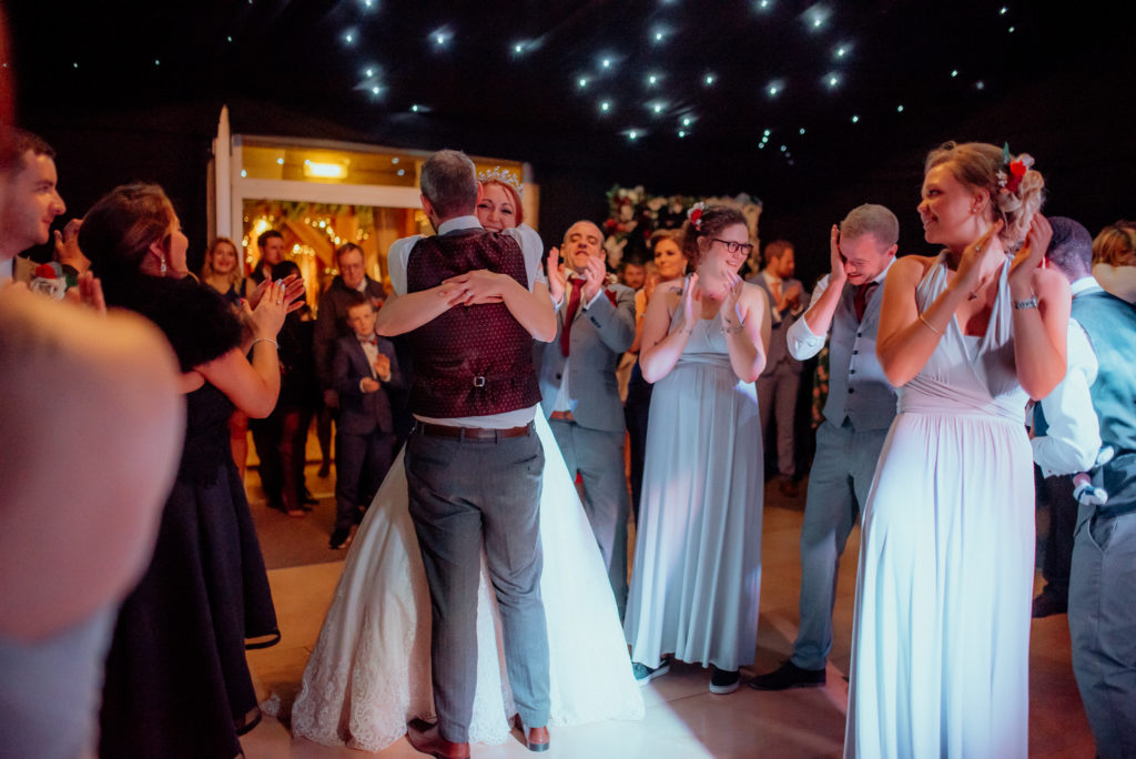 Kent wedding photographer The Ferry House Inn Harty Creative wedding Magical themed wedding DIY wedding crafts book themed Harry Potter Lord of the Rings wedding dress father of the bride candid wedding photos couples portraits first dance DJ
