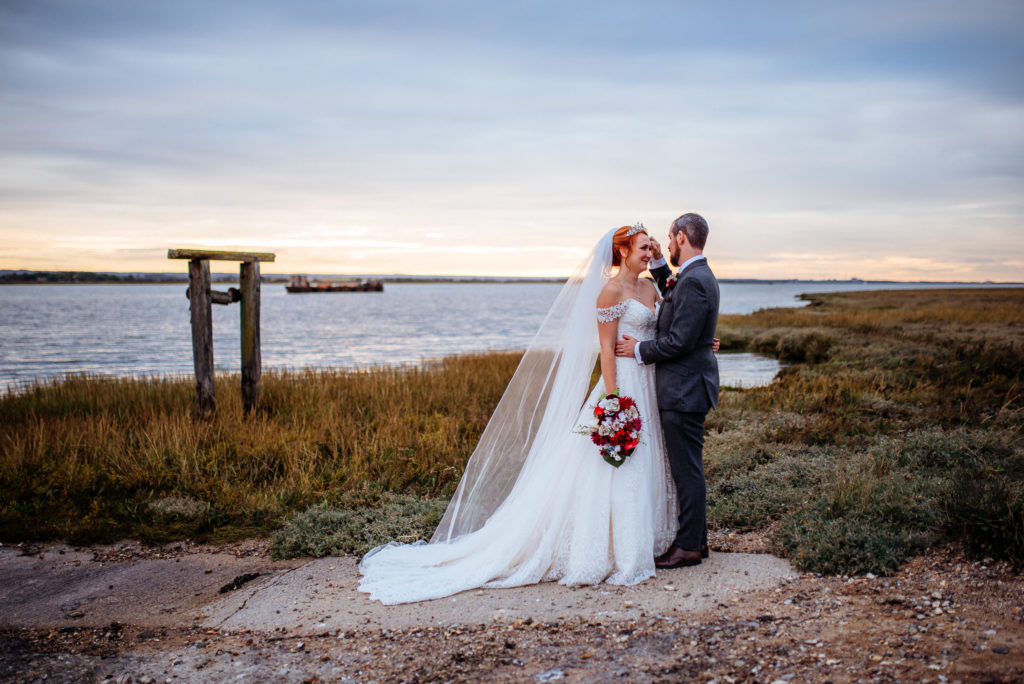 Kent wedding photographer The Ferry House Inn Harty Creative wedding Magical themed wedding DIY wedding crafts book themed Harry Potter Lord of the Rings wedding dress father of the bride candid wedding photos couples portraits