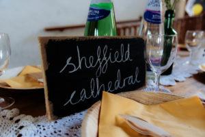 St Mary's Arts Centre Sandwich table decorations Dover wedding Kent wedding DIY decor creative wedding