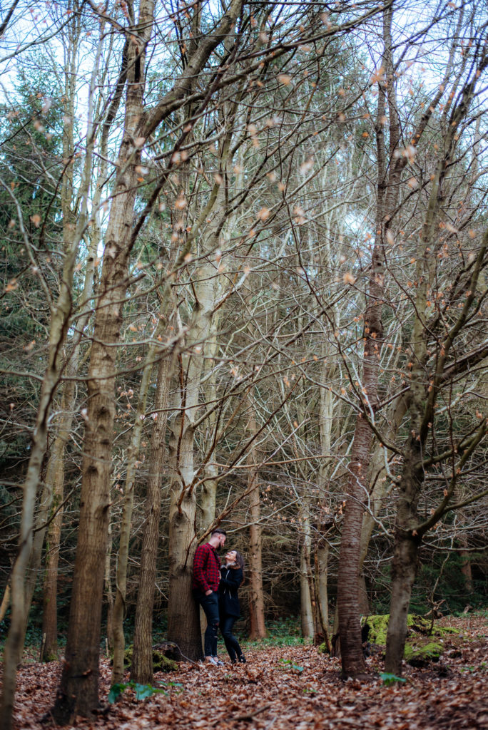 Couples photoshoot in Chantries Wood Guildford