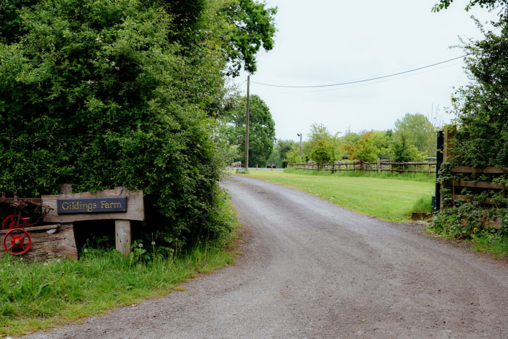 driveway to wedding venue