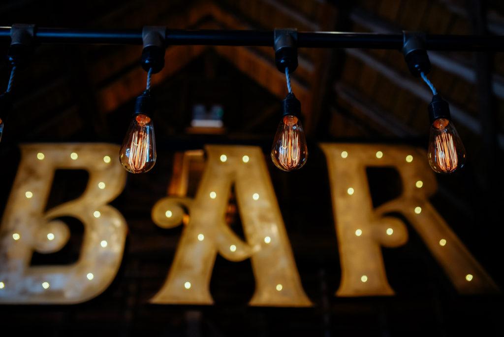 vintage wedding bar