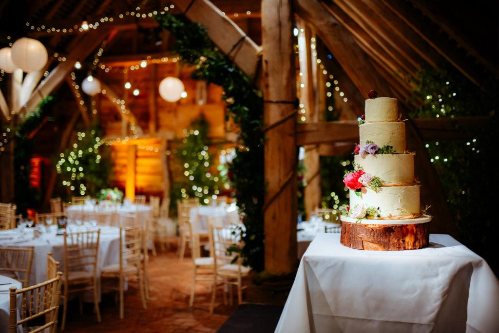 wedding cake position in wedding venue
