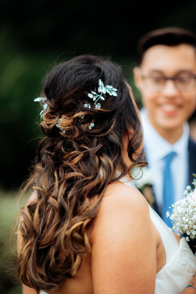 beautiful bridal hair and hair accessories