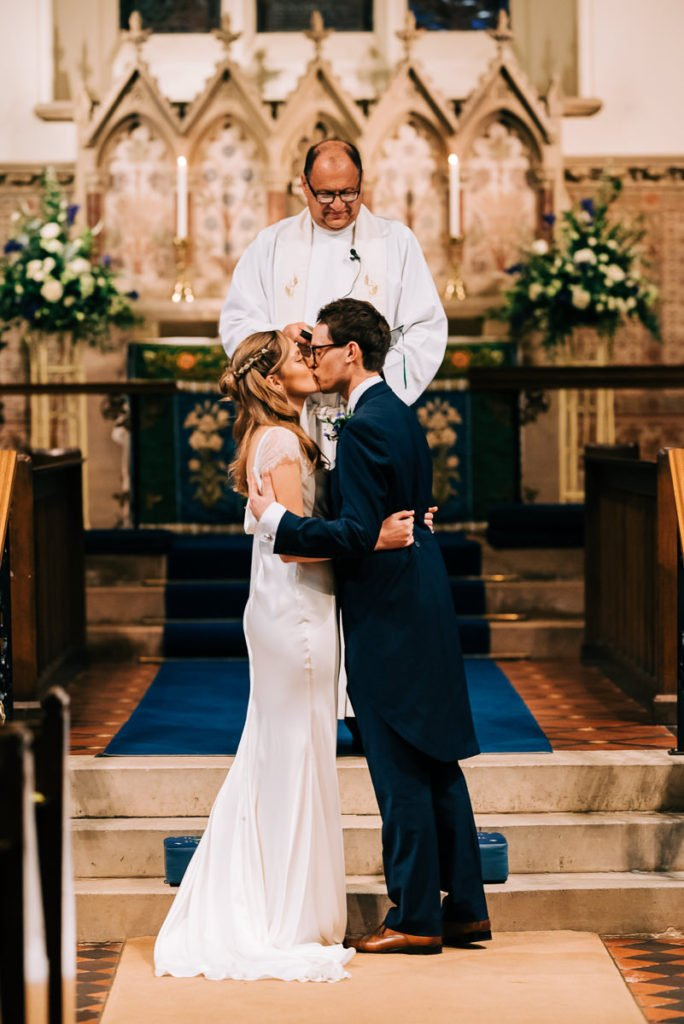 First kiss in St. Marys church Kent