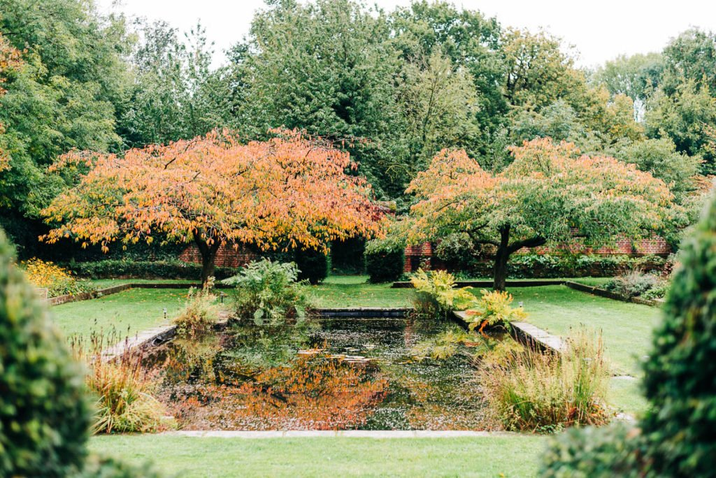 The grounds at Bore Place in Kent in Autumn