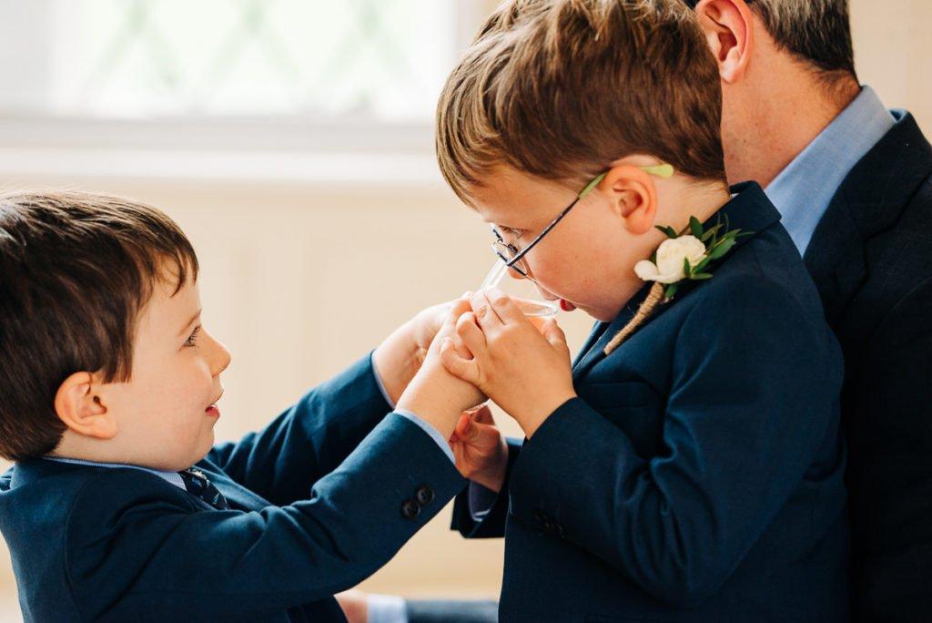 Kids having fun at wedding