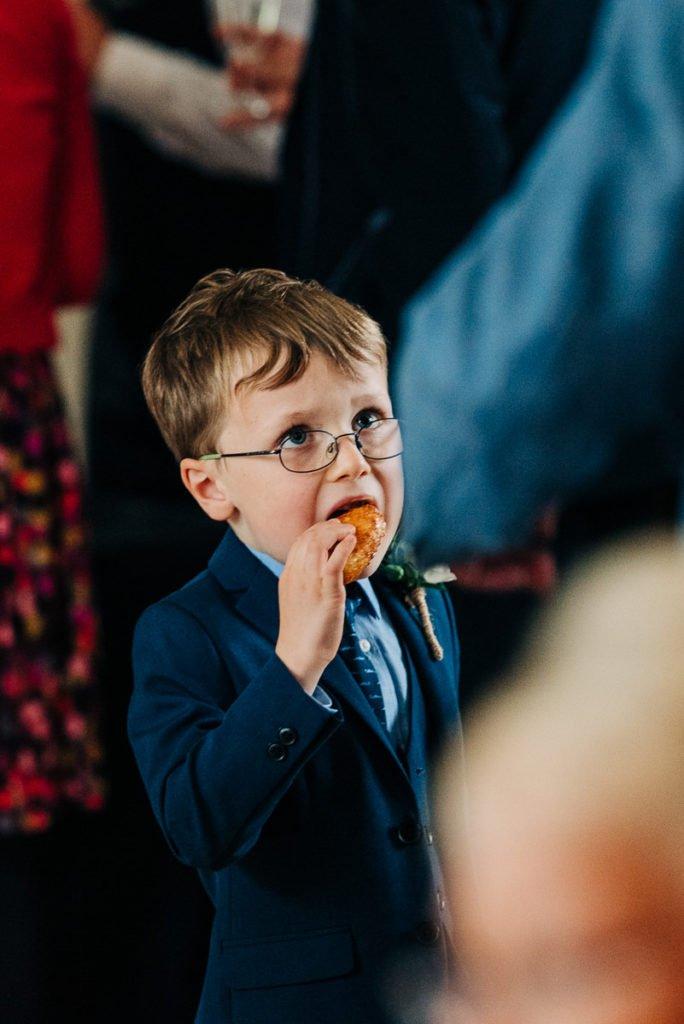 Kids eating canapés