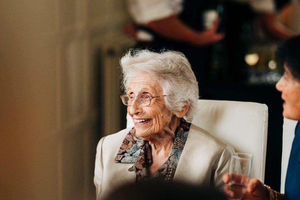 Granny enjoying the wedding