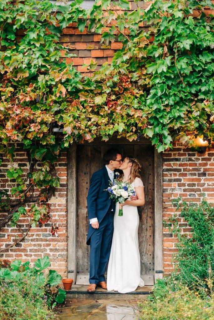 Rainy wedding couple photos