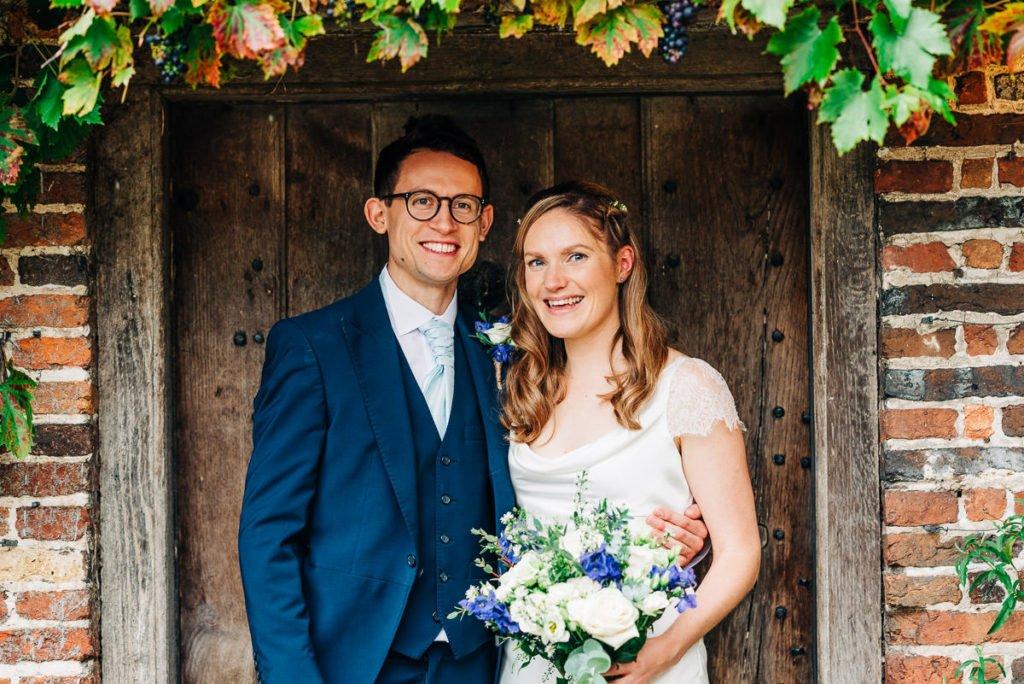 Autumnal wedding couple photographs