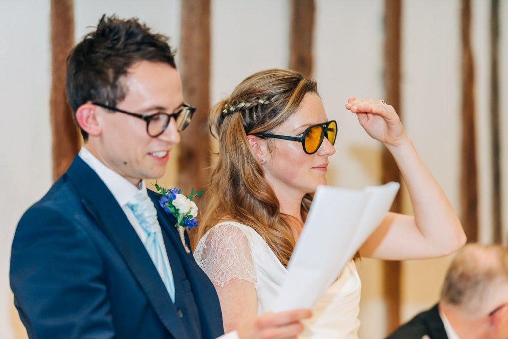 Bride and groom funny speech
