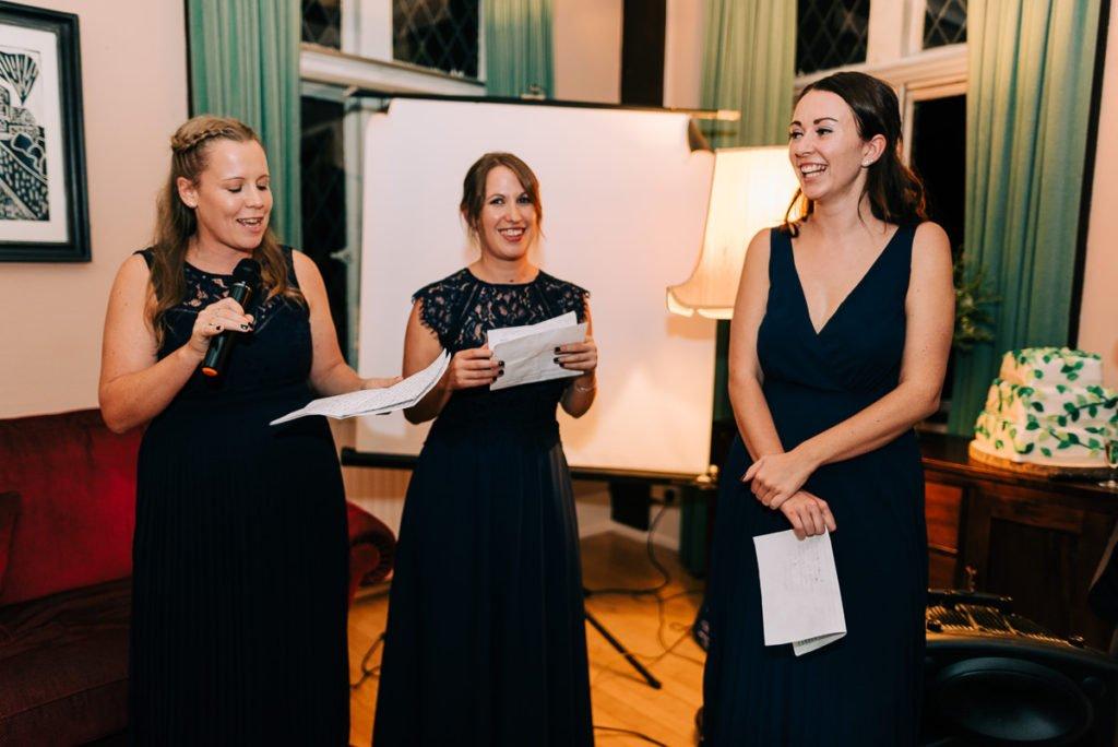 Bridesmaids funny wedding speech