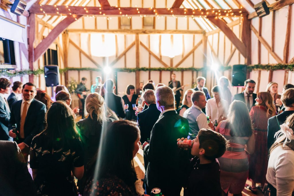 Wedding guests party into the night