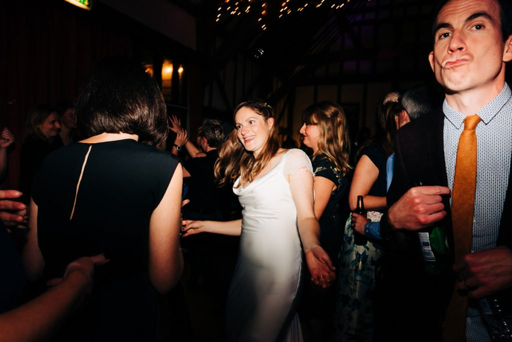 Bride partying into the night