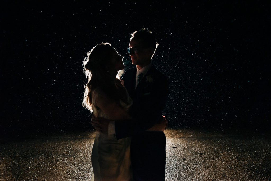 Photographing a wedding in the rain