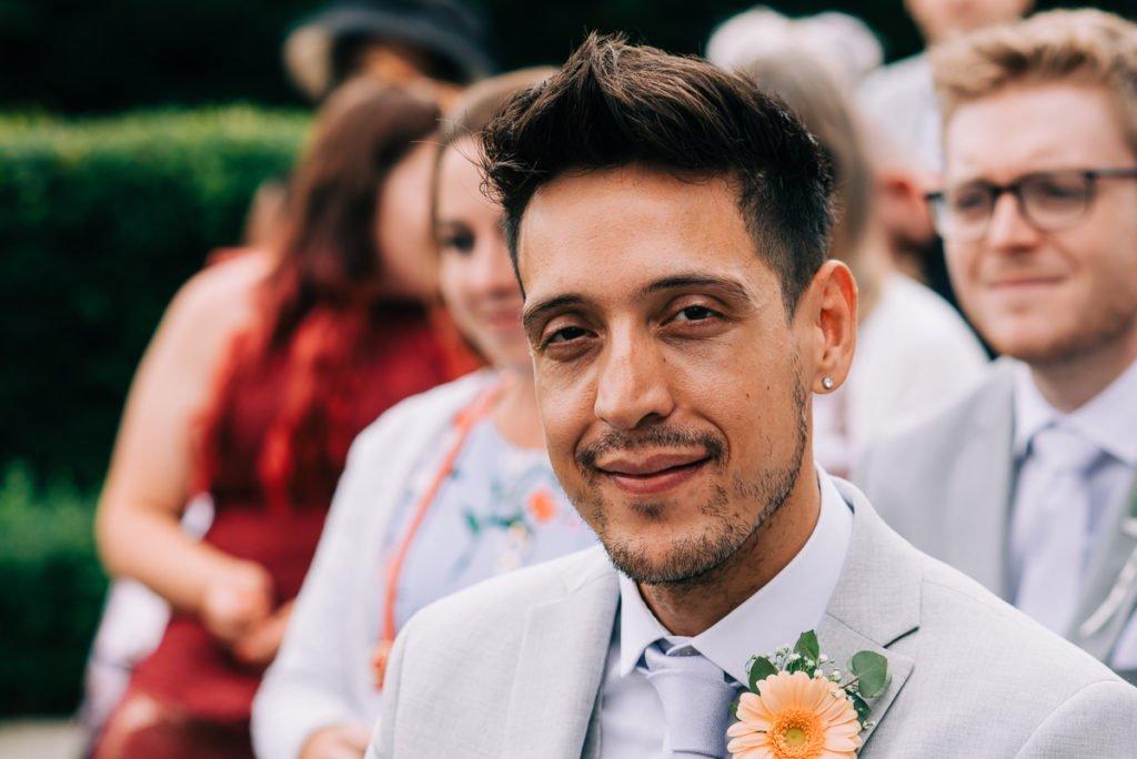 Best man at wedding ceremony
