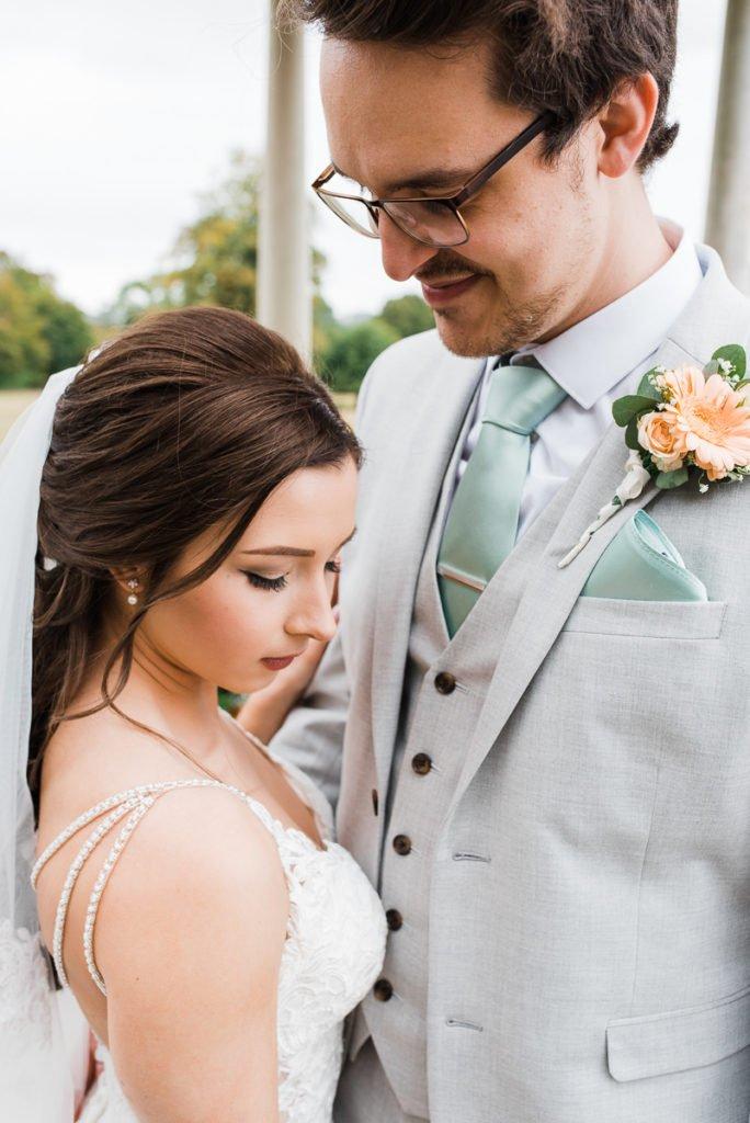 Beautiful bride at romantic Surrey wedding