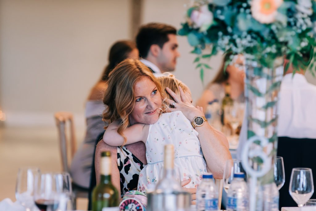 Wedding guests enjoying Froyle Park