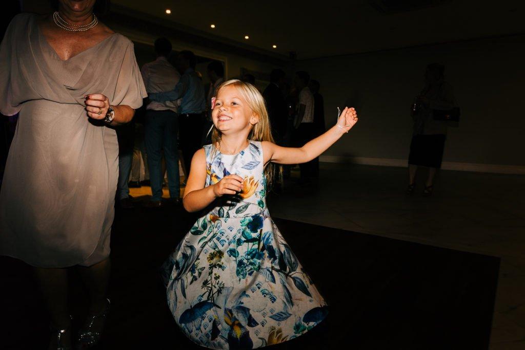 Kids enjoying a dance at Surrey wedding