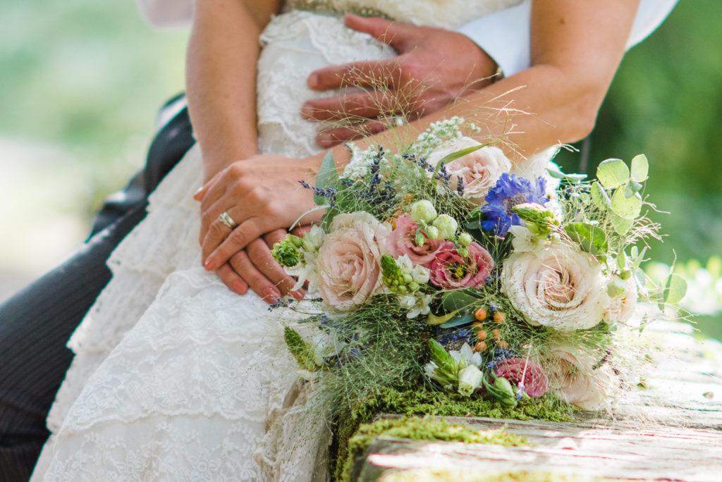 Beautiful natural wedding flowers