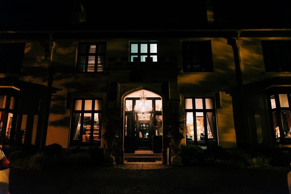 Glazebrook house at night