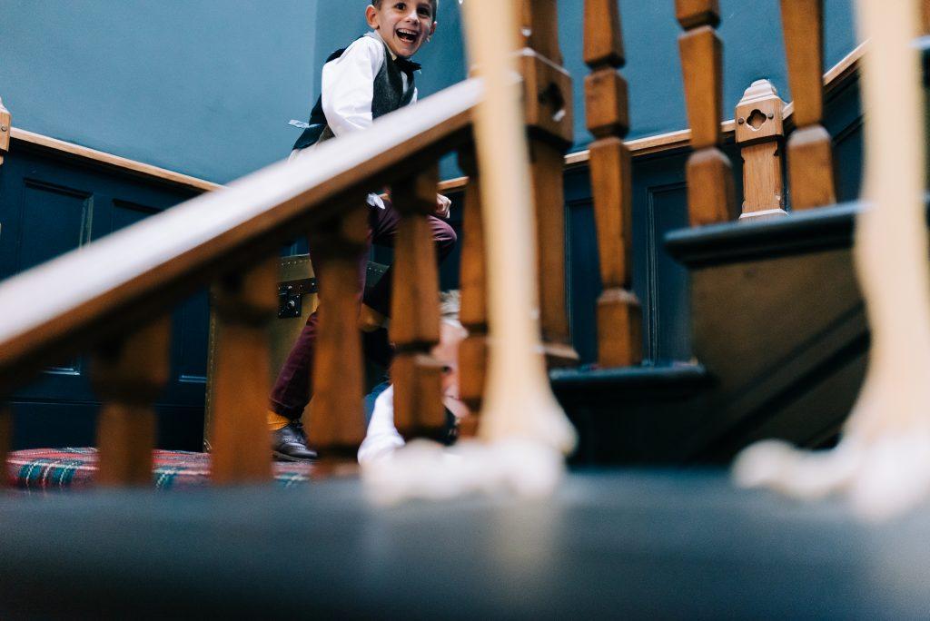 Kids having fun at a wedding