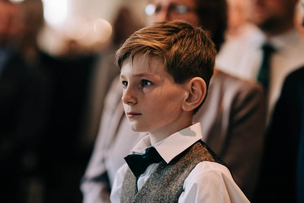 Brides son cries with happiness