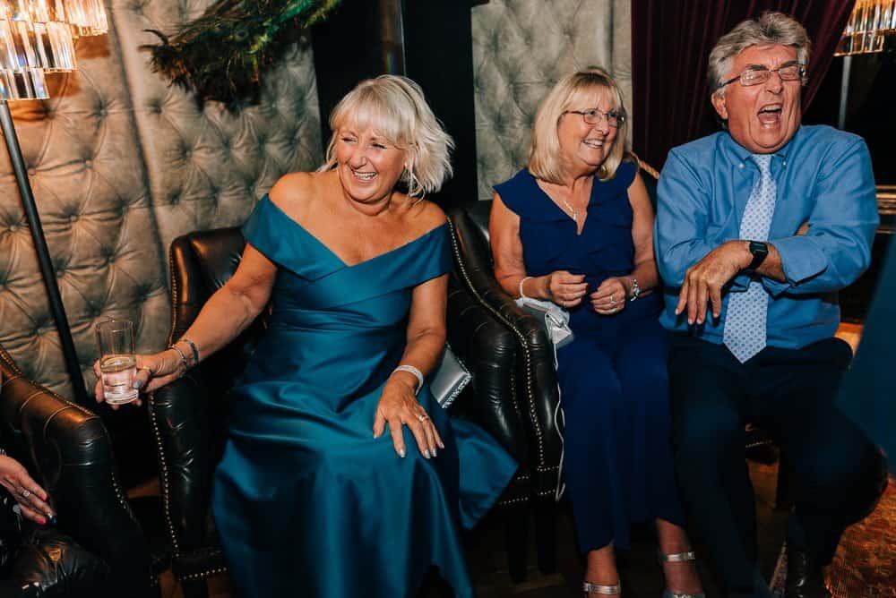 Guests enjoy wedding party