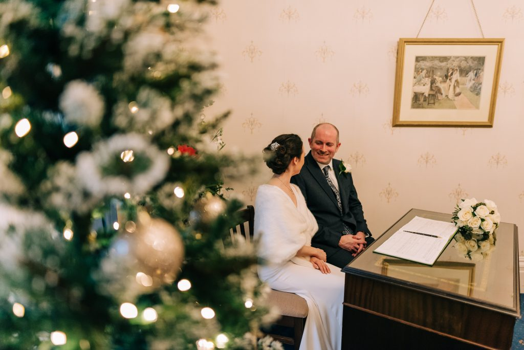 Christmas wedding in Guildford