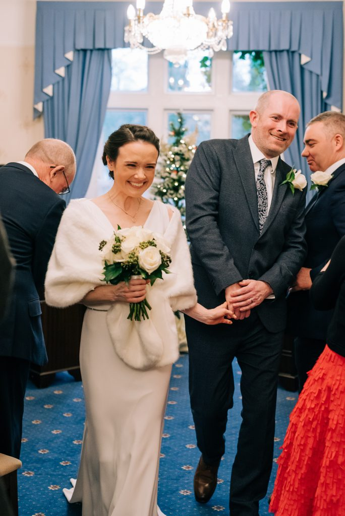 Walking out of ceremony married