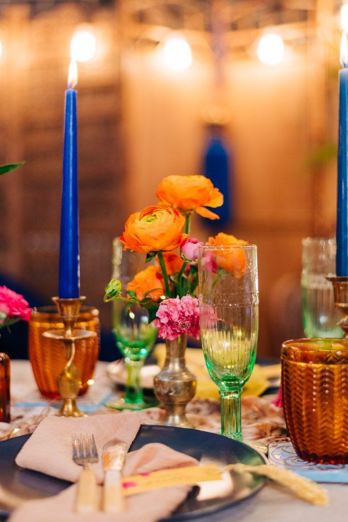 colourful tableware