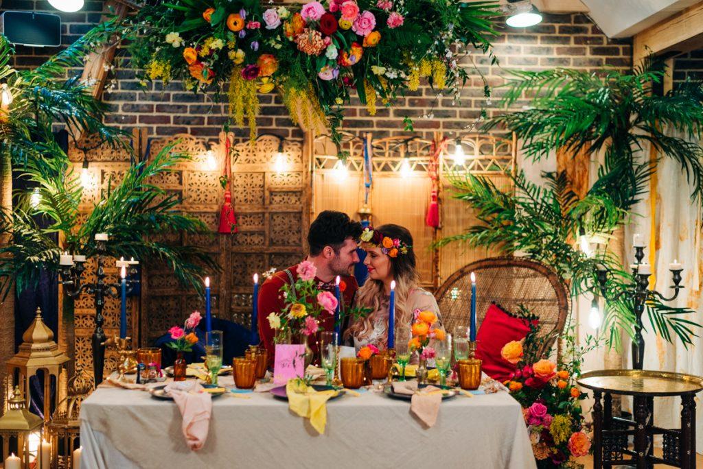 Romantic intimate Moroccan wedding