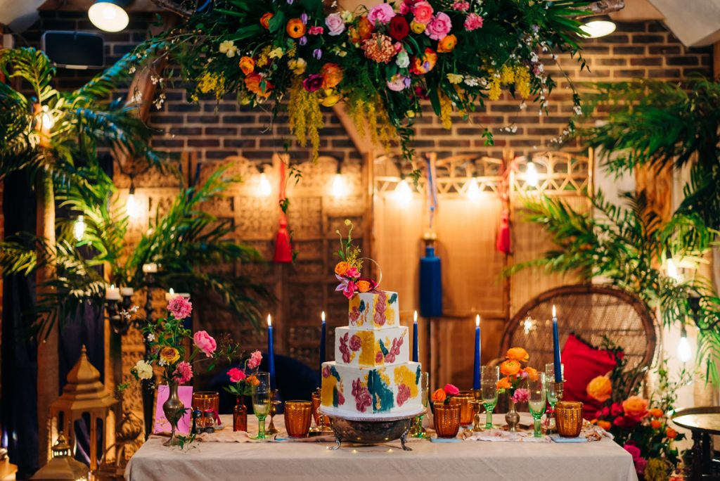 Vibrant wedding details
