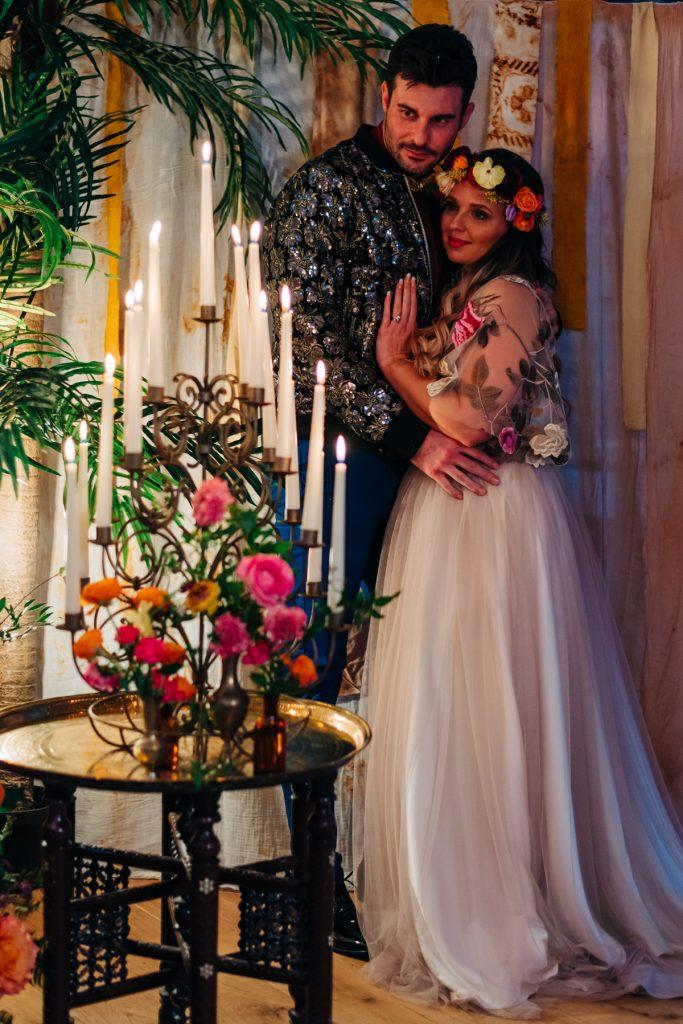 vibrant Moroccan style wedding