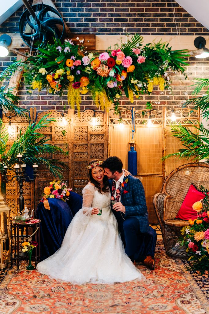 Cosy bohemian romantic wedding