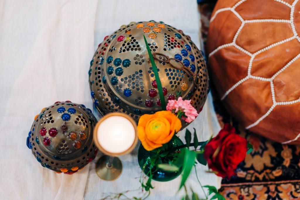 Moroccan lanterns wedding decor