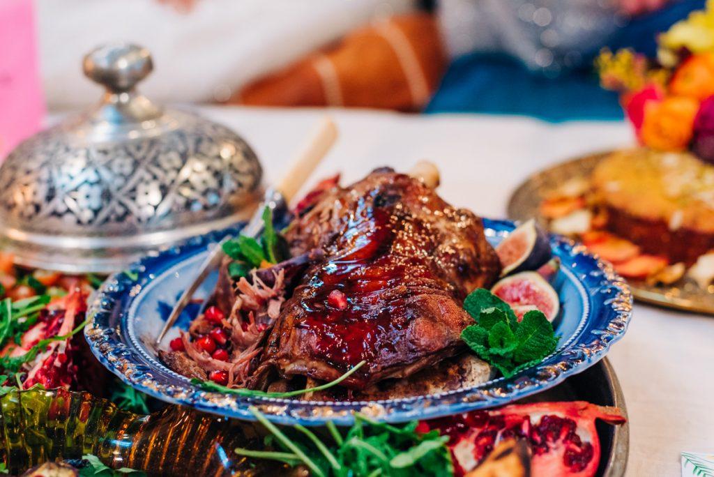 moroccan lamb wedding food