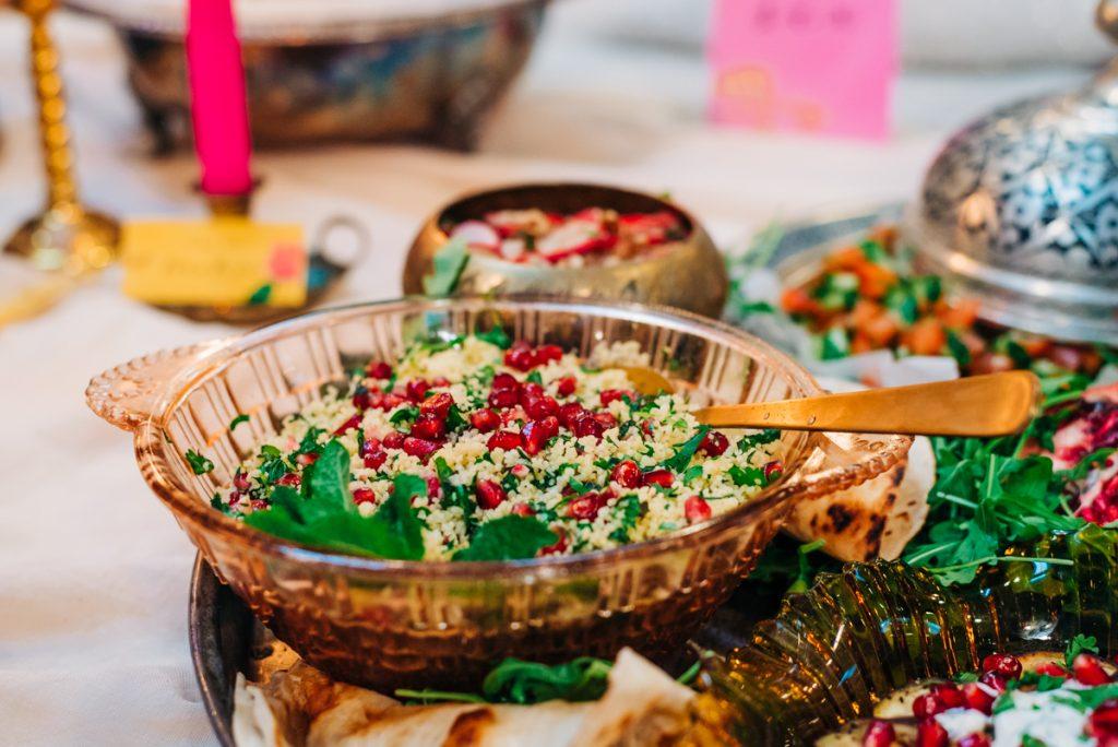 Moroccan wedding food