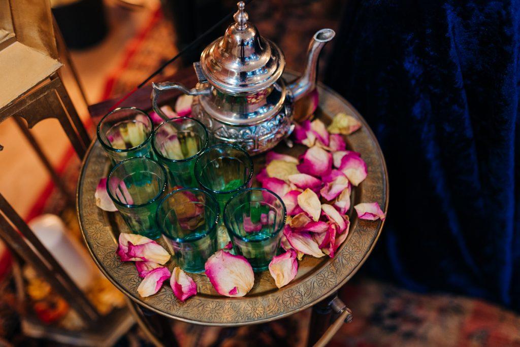 Moroccan mint tea at wedding