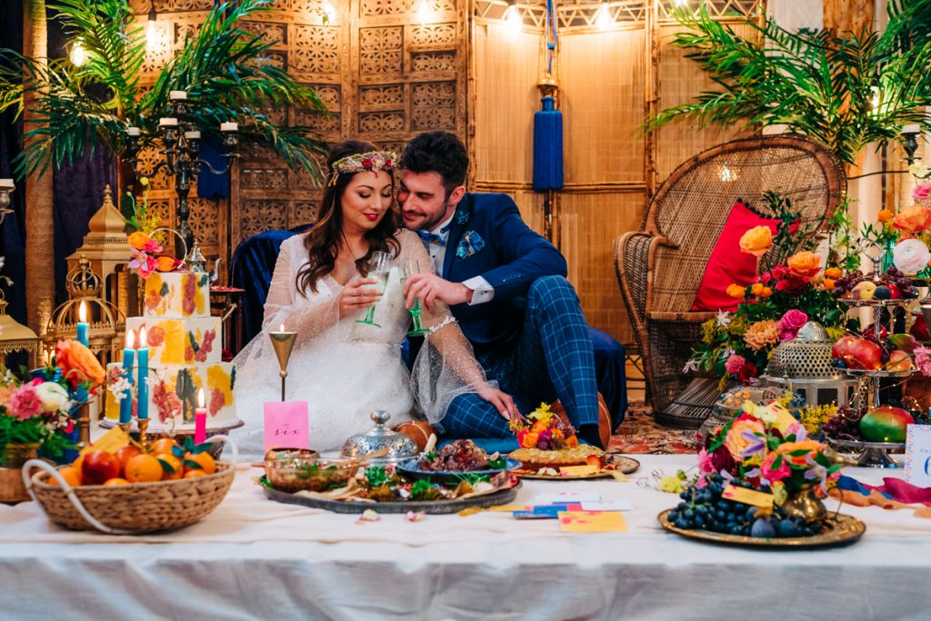 Picnic wedding breakfast