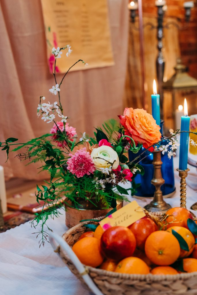 mix matched wedding decorations