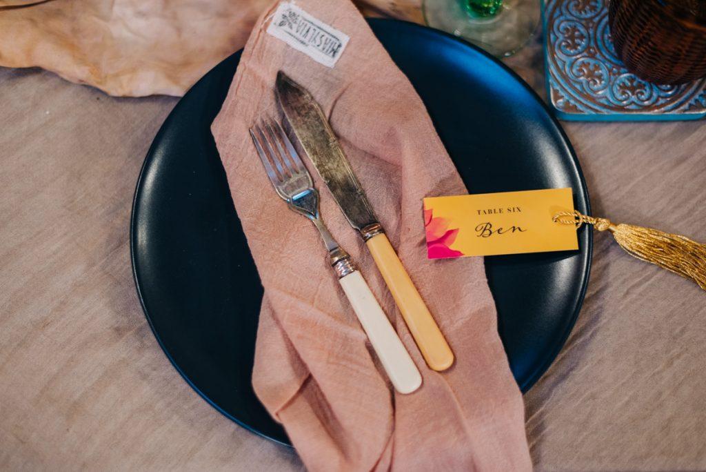 mix matched wedding breakfast ideas