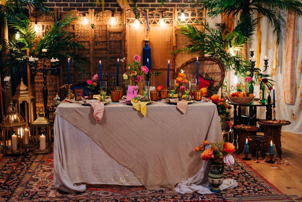 Romantic colourful wedding